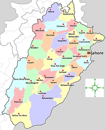 Mineral Map Chief Inspectorate Of Mines - Pakpattan map